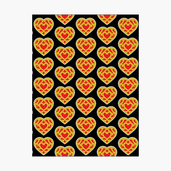 Heart Container Tile Pattern| Perfect Gift | Zelda gift Photographic Print
