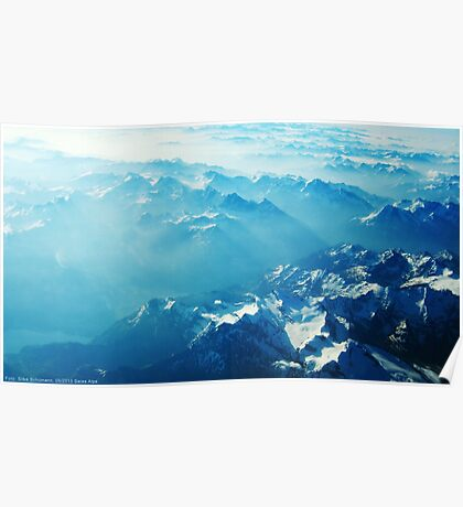 Birds View on the Alps (Velvia) VRS2 Poster