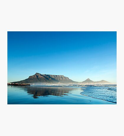 Clear Sunrise over Table Mountain Photographic Print