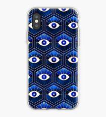 Blaue Augen iPhone-Hülle & Cover