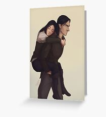 Elorcan Piggyback Greeting Card