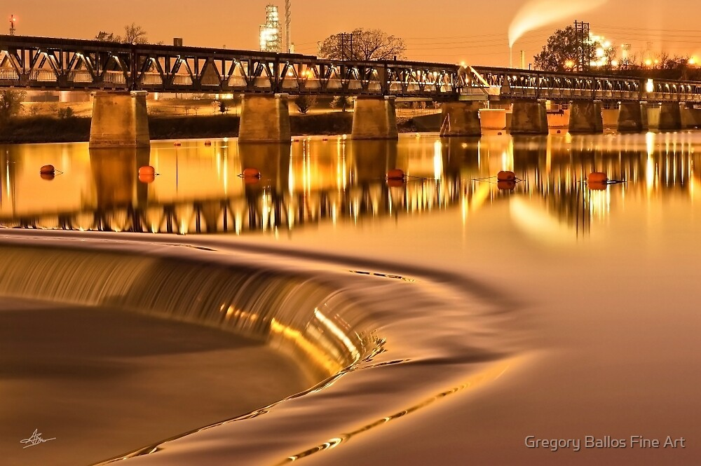 Liquid Gold - The 21st Street Bridge  by Gregory Ballos