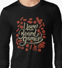 I Love Board Games Long Sleeve T-Shirt