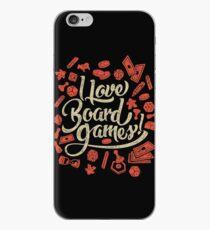 I Love Board Games iPhone Case