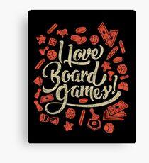 I Love Board Games Canvas Print