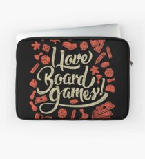 I Love Board Games Laptop Sleeve