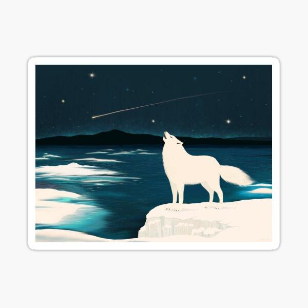 The White Wolf Calls Sticker