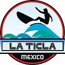 SURFING LA TICLA MEXICO SURF SURFER SURFBOARD BOOGIE BOARD MX by MyHandmadeSigns