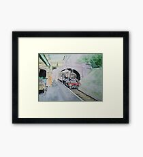 Steaming Into Rothley Framed Print