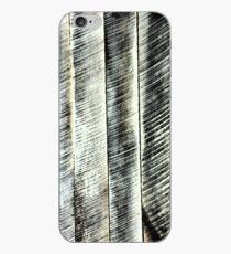 Vinilo o funda para iPhone Tablero de madera rústica en blanco Paleta de madera de roble