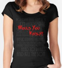 Would you kindly? Women's Fitted Scoop T-Shirt