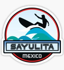 SURFING SAYULITA MEXICO SURF SURFER SURFBOARD BOOGIE BOARD MX Sticker
