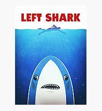 Left Shark Parody - Jaws - Funny Movie / Meme Humor Photographic Print