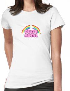 DEATH METAL! (Funny Unicorn / Rainbow Mosh Parody Design) Womens Fitted T-Shirt