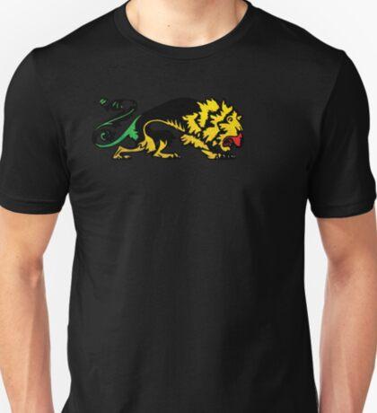 Heraldic Grunge Reggae Lion Heraldry Style T-Shirt