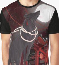 Loup noir T-shirt graphique
