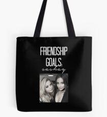 Freundschaftsziele; Sashay-- Weiß Tote Bag