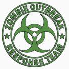 ZOMBIE RESPONSE TEAM round green  by Tony  Bazidlo