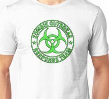 ZOMBIE RESPONSE TEAM round green  Unisex T-Shirt