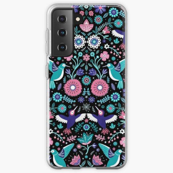 colibri jardin 2 Coque souple Samsung Galaxy