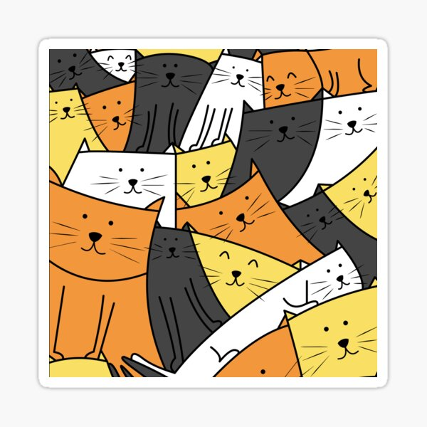 The Cats are Watching Sticker