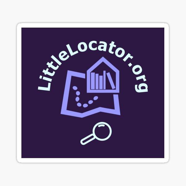 Little Locator Purple Library Books Sticker
