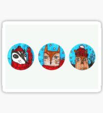 Christmas Animals (landscape) Sticker