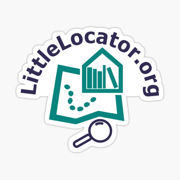 Little Locator - purple and teal Sticker
