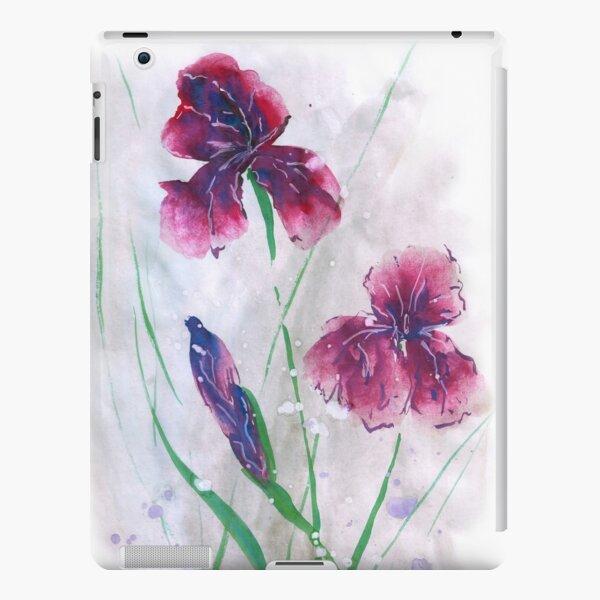 Irises in snow, painted in gouache. iPad Snap Case