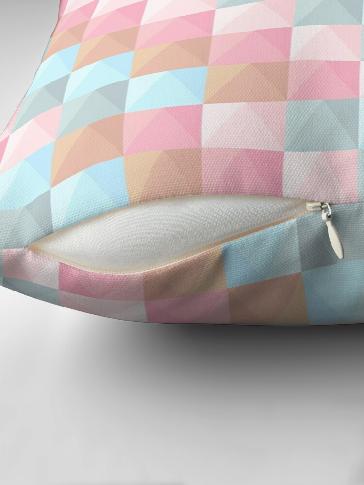 Alternate view of Abstract Tie Dye Pastel Geometric Rectangles Pattern Throw Pillow