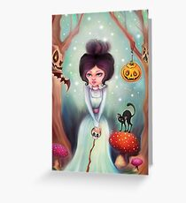Halloween Friends in the Forest Greeting Card