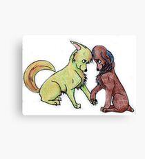 Katniss and Peeta Canvas Print