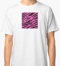 Animal background pattern - pink tiger skin texture. Background texture of pink tiger skin Classic T-Shirt
