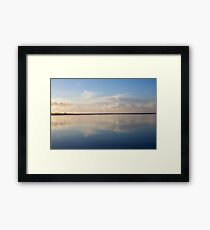 Reflections in Blue Framed Print