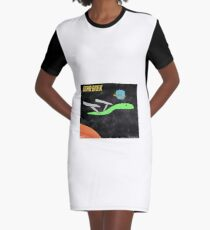 Star Snek - A Tiny Snek Comic Graphic T-Shirt Dress