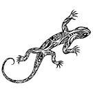 Tribal Lizard by Valentin François