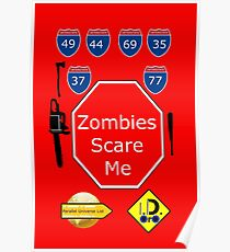 Zombies Scare Me Poster