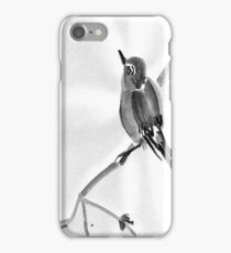Sumi-E Wren Drawing iPhone Case/Skin