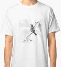 Sumi-E Wren Drawing Classic T-Shirt
