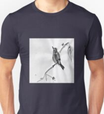 Sumi-E Wren Drawing Unisex T-Shirt