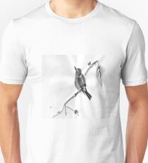 Sumi-E Wren Drawing Unisex T-Shirt
