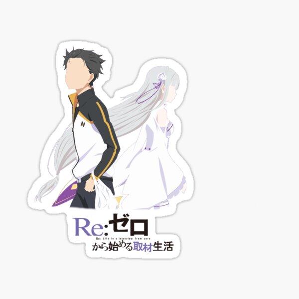 Re:Zero Sub and Emi Minimalist Sticker