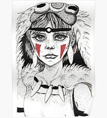 Pen ink Mononoke Poster