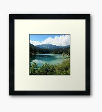 Oh, the Mountains are Calling Framed Print
