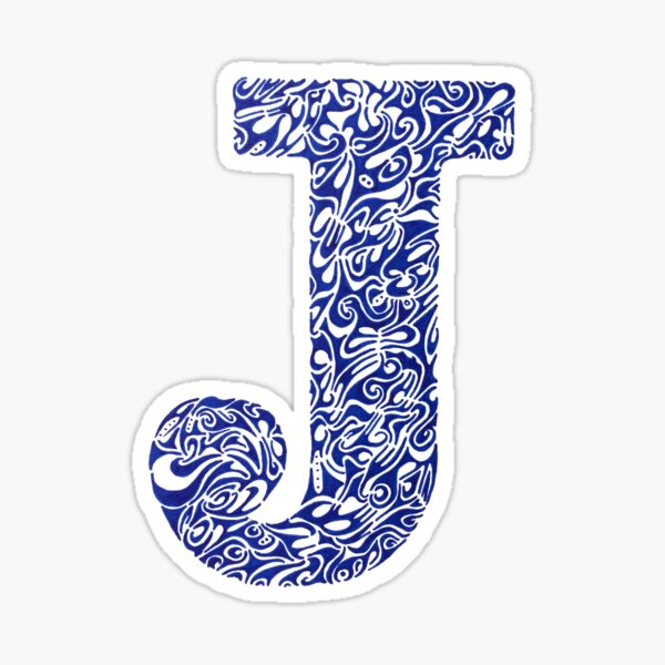 Margin J Letter Sticker