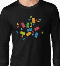 Jelly Beans & Gummy Bears Pattern Long Sleeve T-Shirt