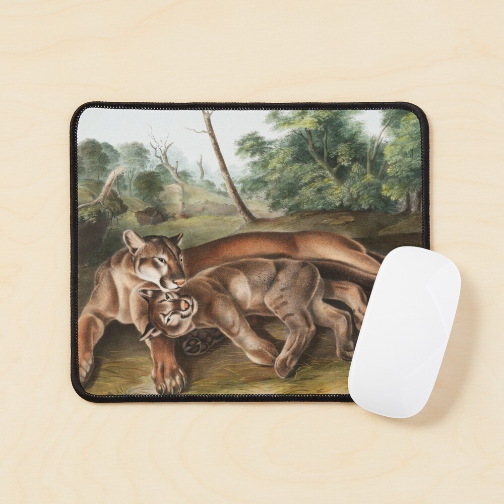 Cougars in Love Mouse Pad