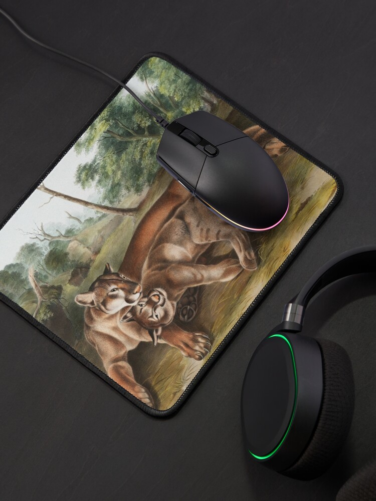 Alternate view of Cougars in Love Mouse Pad