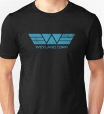Weyland Corp - Distressed Blue T-Shirt