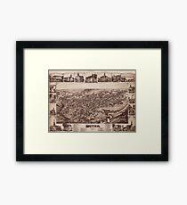 Map Of Dover 1885 Framed Print